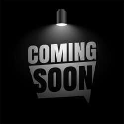 coming soon background with focus light effect design